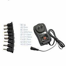 AC/DC Universal Power Adapter 3v-12v Switching Supply USB Port 8 Tips 12W 1000ma