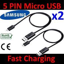 2x 1M Micro USB données Câble chargeur RAPIDE câble TéléPhone SAMSUNG Galaxy S6