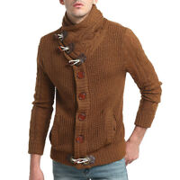 Men Knitted Cardigan Sweater Winter Jacket Coat Fashion Warm Slim kintwear stand