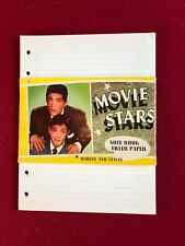 "1950's, Dean Martin / Jerry Lewis, ""Un-Used"", ""MOVIE STARS"" NOTE BOOK  PAPER"