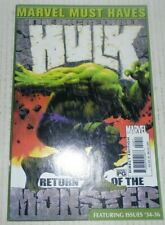Marvel Must Haves The Incredible Hulk Return Of The Monster # 34 35 36