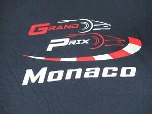 MONACO GRAND PRIX CAR RACING - BLUE EUR MEDIUM SLIM FIT T-SHIRT D1935