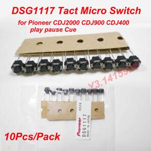 10Pcs Tact Micro Switch DSG1117 for PIONEER CDJ2000 CDJ900 CDJ400 Play Pause Cue