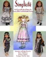 """Simplicité"" Original Fashion Pattern for Dianna Effner's 13"" Little Darlings"