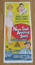 NEVER STEAL ANYTHING SMALL ORIGINAL 1959 CINEMA DAYBILL FILM POSTER James Cagney