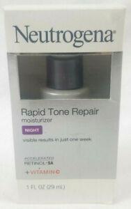 Neutrogena Rapid Tone Repair Night Moisturizer with Retinol Vitamin C 1 fl 0z