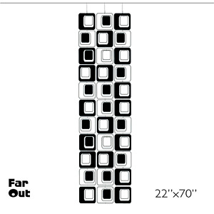 Far Out B&W Designer Atomic DIY Kit Mobiles - Room Dividers Wall Art Curtain MCM