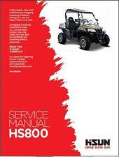 Hisun HS800 UTV ( HS800UTV ) Service / Maintenance Manual CD
