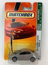 Matchbox '08 Honda Civic Type R Gray New