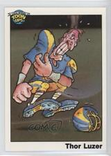 1991 Toon Ups All-Star Football Series 1 Promotional #THLU Thor Luzer Card 0q3