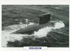 1987 HNLMS ZEELEEUW Walrus Submarine Ship / Dutch Warship Photograph Maxi Card