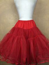 Vintage Red Tulle Square Dance Petticoat w Soft Inner Lining
