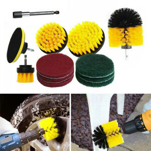 12PCS Cleaning Drill Brush Cleaner Combo Tool Electric Drill Power Scrubber UK