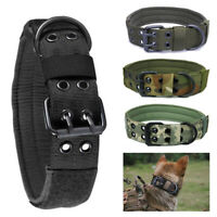 Nylon Dog Canine Military Tactical Working Training Collar German Shepherd