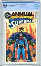 Superman  ANNUAL  #11  CBCS  9.6  NM+  White pgs 1985  Batman, Robin, Wonder Wo