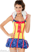 Sexy Snow White Fairy Tale Naughty Halloween Fancy Dress Costume 8 10 12