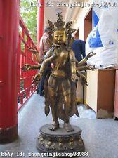 """41""""Huge Tibetan Buddhism Bronze 8 Arm Hand Kwan-Yin Avalokitesvara Buddha statue"""