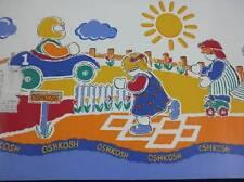 "Oshkosh Adventures Wallpaper Border Lot of 4 Rolls 10"" X 15' Primary Colors"