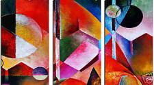 SPLIT Tela Art 3 PANNELLO bella pittura astratta A1