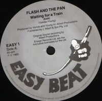 """FLASH AND THE PAN waiting for a train/album version EASY1 uk easy beat 7"""" WS EX/"""