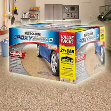 RUSTOLEUM Rust-Oleum Epoxyshield Garage Floor Coating Kit 2 1/2 Car - Tan Gloss