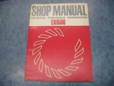 HONDA 1973 EG1500 PORTABLE GENERATOR SHOP MANUAL GUIDE REPAIR