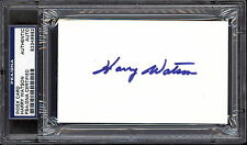 HARRY WATSON PSA DNA AUTOGRAPH AUTO SIGNED INDEX CARD TORONTO MAPLE LEAFS