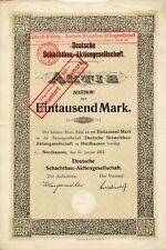 Deutsche Schachtbau AG Nordhausen Aktie 1912 Celle Gebhardt & Koenig Gladbeck