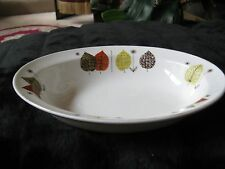 Alfred Meakin England  Glo-White Autumn Leaves Oblong Vegetable Dish