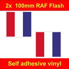 2 RAF Flash stickers 100mm The Who Mod Scooter Vespa lambretta Decals