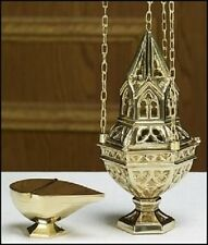 "10"" ORNATE CENSER AND BOAT SET"
