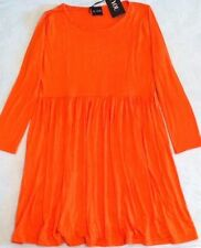 B.You Long Sleeve Swing Dress - Orange Size 12