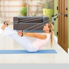 Personal Exerciser Total Body Leg Arm Band Workout Door Knob Resistance Therapy
