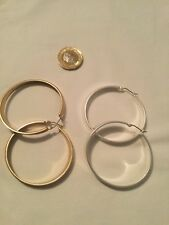 Virgin Vie Gold And Silver Plated Hoop Poppy Earring Set / PRESENT IDE