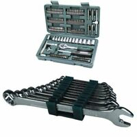 Mannesmann Tools Socket and Bit Set 130 Pieces & Combination Spanner Set Germany