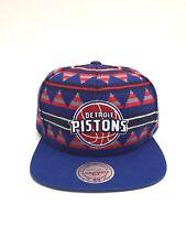 Detroit Pistons Mitchell & Ness Mens NBA Mixtec Snapback Hat