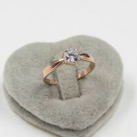 Valentine's Day 18K rose gold 0.85 women's ring size 8