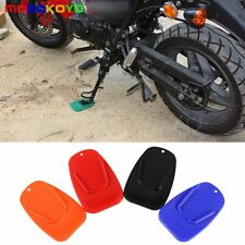 Motorcycle Biker Kickstand Stand Support Pad Plate Parking For Yamaha Harley New