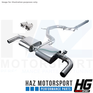 "HG Motorsport EGO-X 3"" Catback Valved Exhaust System Seat Leon Cupra 5F 290/300"