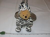 "Winnie the Pooh Disney Store mini Bean bag Zebra 8"" Halloween costume plush Walt"