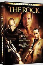 The Rock Action Pack: Doom - The Rundown - Scorpion King  (DVD, 2009, 4-Disc)