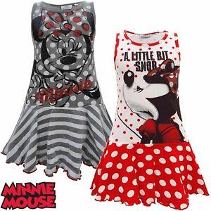 Kleid Kinder Minnie Maus Mädchen Sommer Kinderkleid Disney Mouse Mädchenkleid