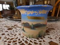 Vintage Cheyenne Wyoming WY Souvenir Hand Painted Vibrant Desert Scene Vase ?
