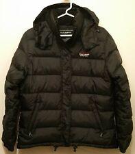 RALPH LAUREN Polo Jeans Company Down Puffer Full Zip Medium Black Hoodie Jacket