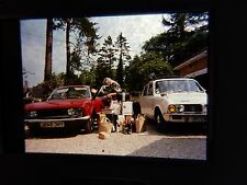 COLOUR SLIDE   HOLIDAY PACKING FOR THE WAY HOME 1970s  great social history M