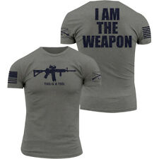 Grunt Style I Am The Weapon Crewneck T-Shirt - Gray