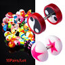 Trend 10pairs Fake Ear Plug Gauge Illusion barbell Cheater Body Jewelry punk 16G