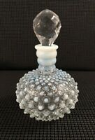 Fenton Ombre French Opalescent Hobnail Perfume Decanter Bottle w/Glass Stopper