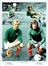 Pat JENNINGS & Bob WILSON Signed Autograph ARSENAL Montage 16x12 Photo AFTAL COA
