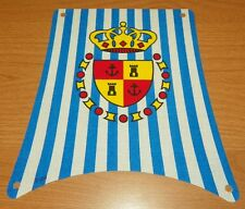 LEGO 6280 - Cloth Sail Main with Blue Stripes and Crown Shield Pattern